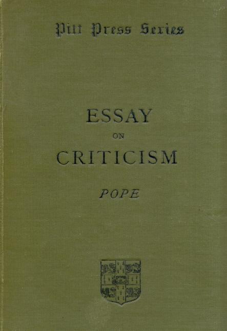 Essay On Criticism Analysis